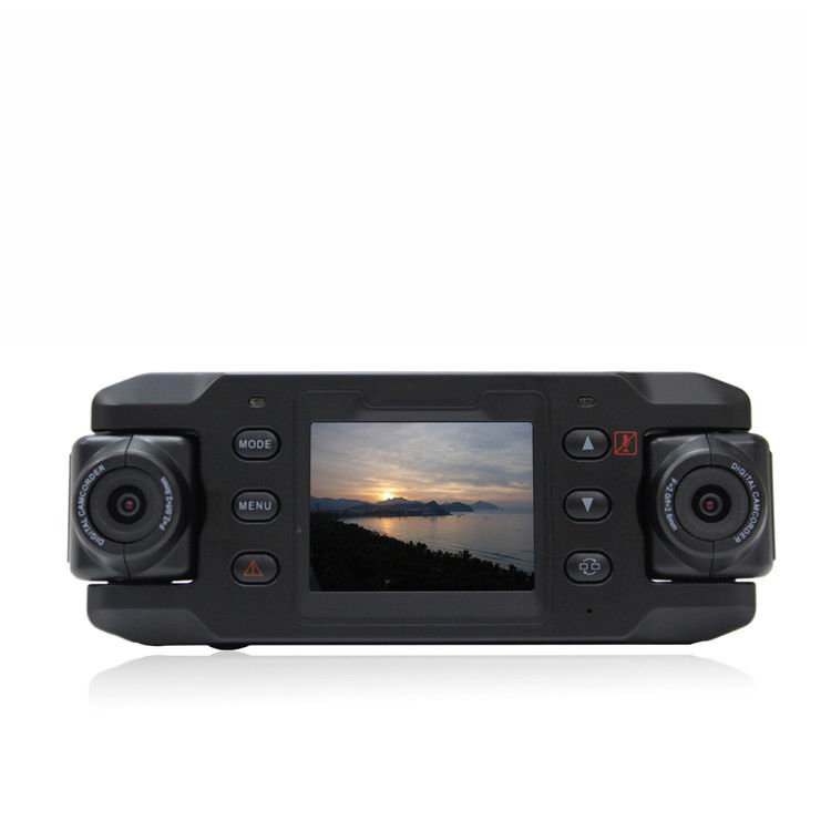 140 degree Dual Lens Car DVR + Rotatable Lens + GPS Module + 4G high-definition lens